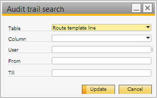 Audit trail search