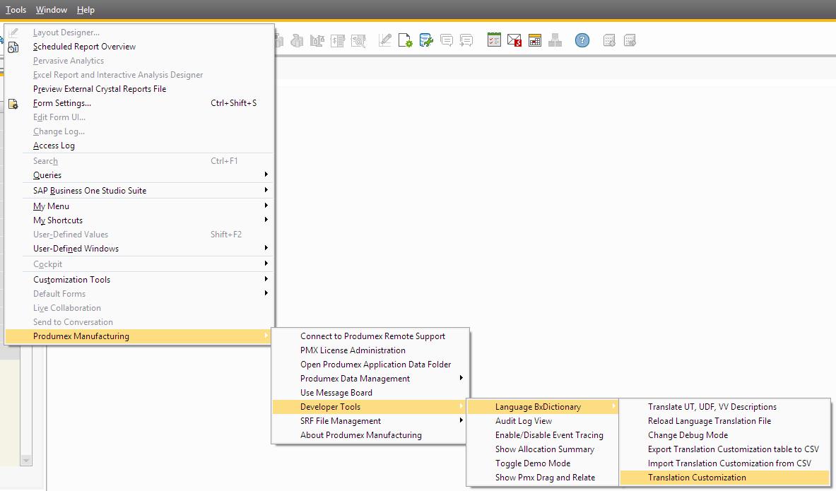 Produmex Manufacturing Customization Guide []