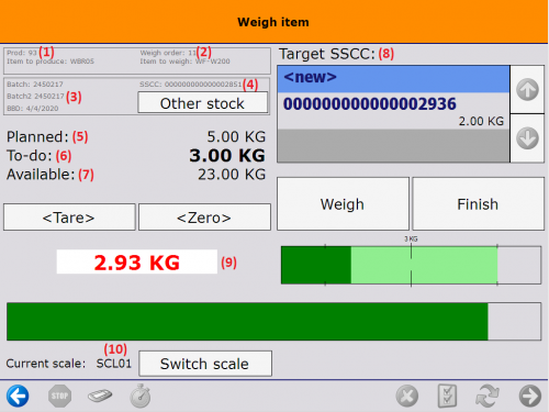 Weigh item image