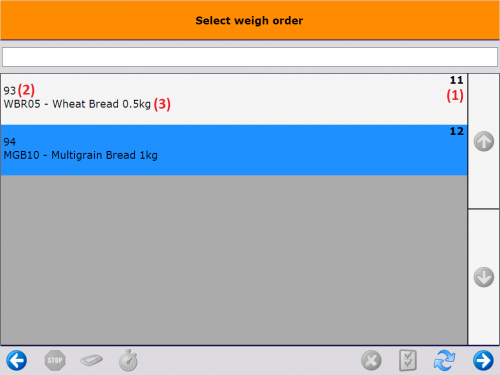 Select weigh order